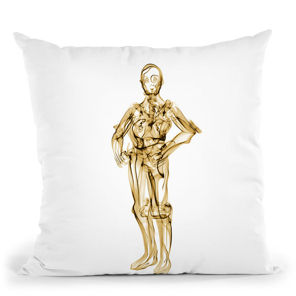 C3Po Throw Pillow By Octavian Mielu