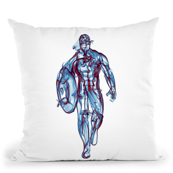 Captain America Throw Pillow By Octavian Mielu