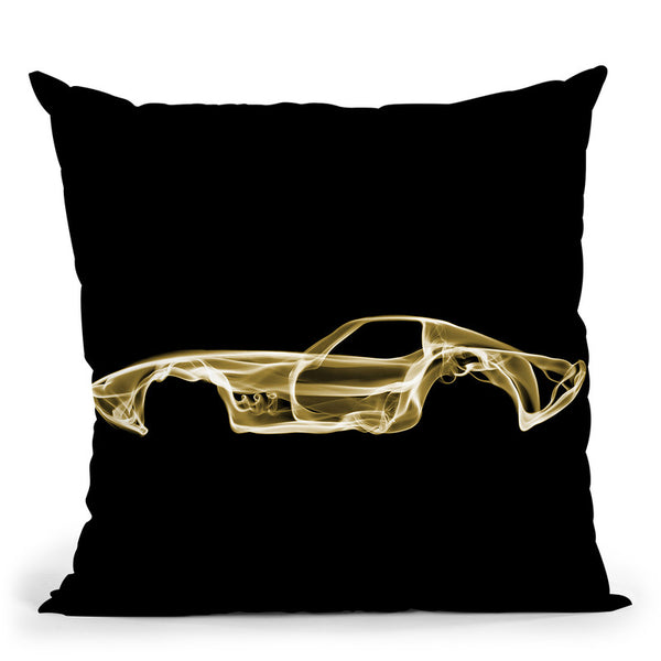 Corvette C3D Throw Pillow By Octavian Mielu