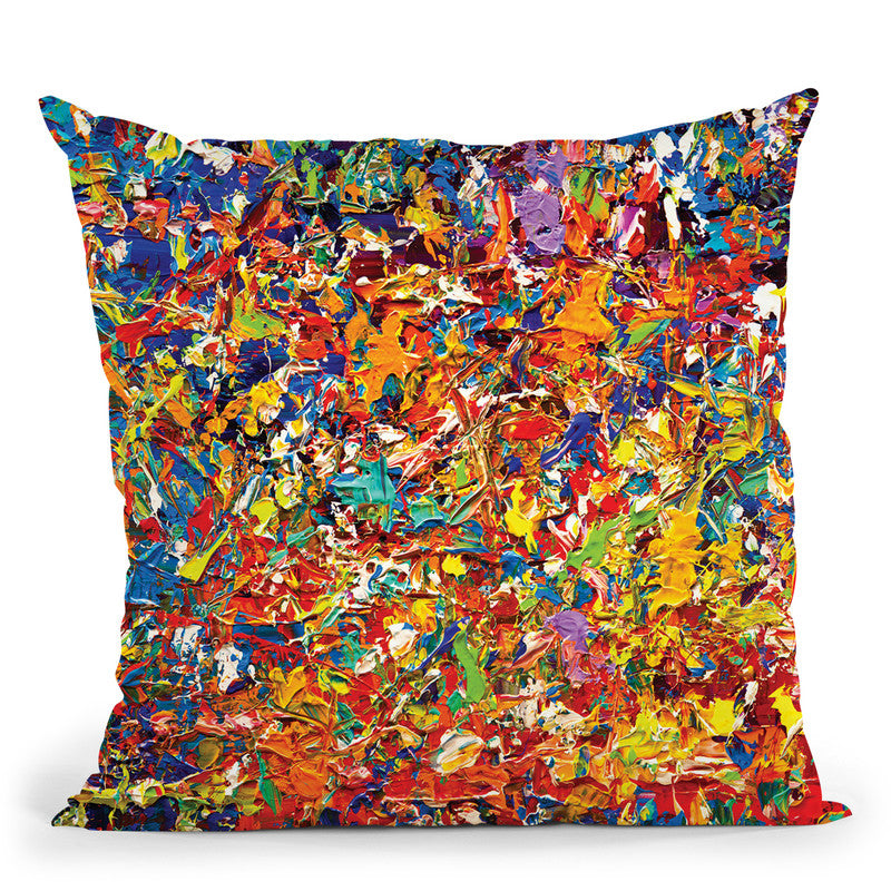 20 Millions Things To Do Throw Pillow By Osnat Tzadok