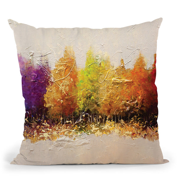 Five Seasons Throw Pillow By Osnat Tzadok