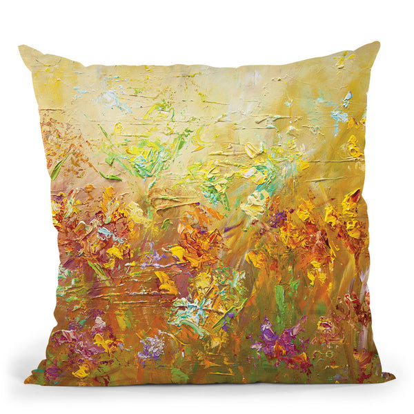 Garden Party Throw Pillow By Osnat Tzadok