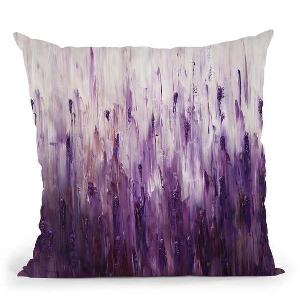 Purple Sparkle Throw Pillow By Osnat Tzadok