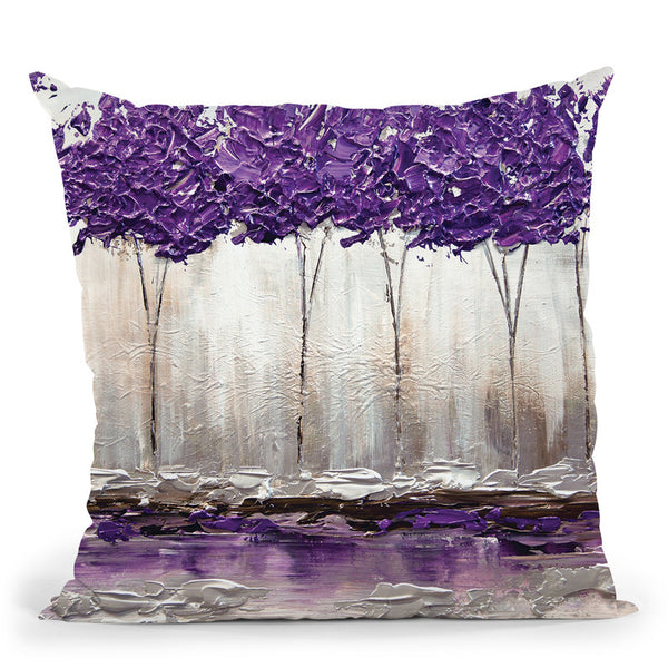 Purple Summer Throw Pillow By Osnat Tzadok