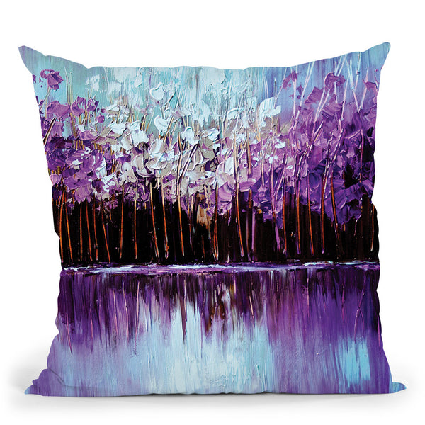 Reflection Throw Pillow By Osnat Tzadok