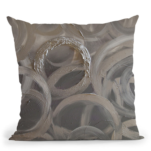 Silver Sun Throw Pillow By Osnat Tzadok