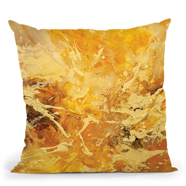 Solar Warmth Throw Pillow By Osnat Tzadok