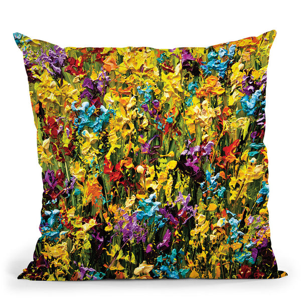 Spring2 Throw Pillow By Osnat Tzadok