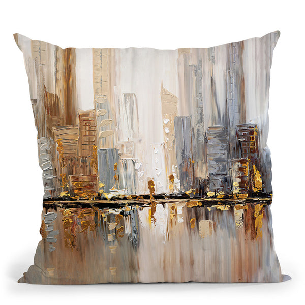 Streets Throw Pillow By Osnat Tzadok