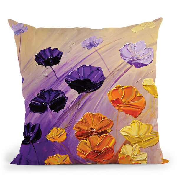 The Garden Throw Pillow By Osnat Tzadok