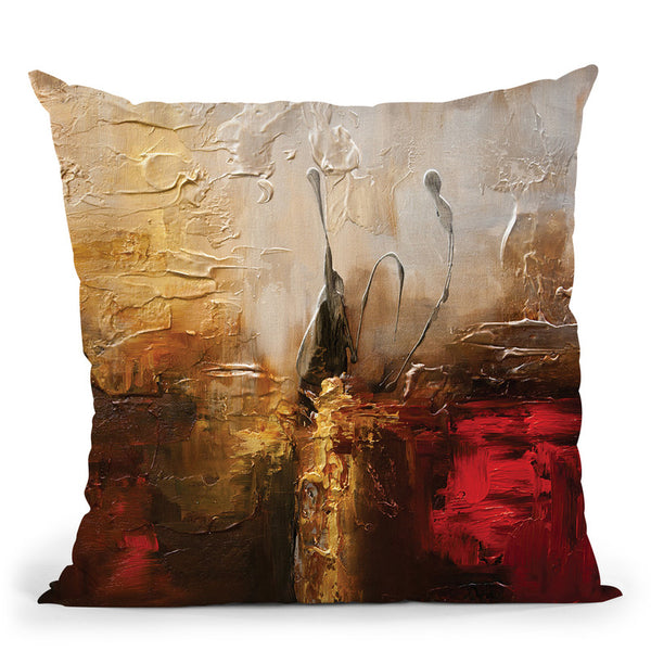 The Golden Creek Throw Pillow By Osnat Tzadok
