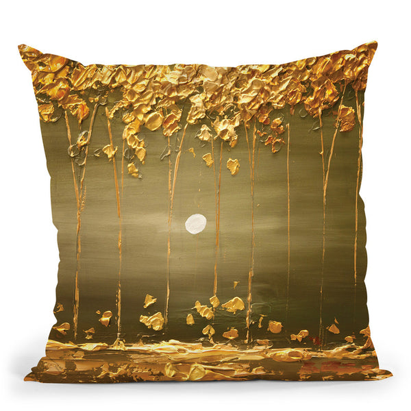 The Golden Forest2 Throw Pillow By Osnat Tzadok