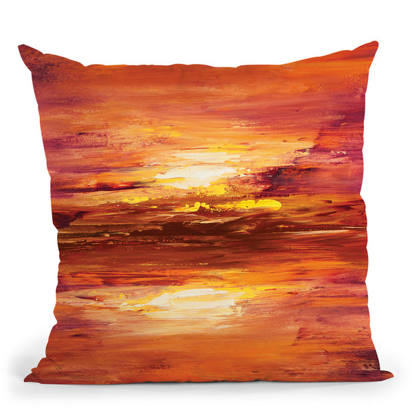 The Light Throw Pillow By Osnat Tzadok