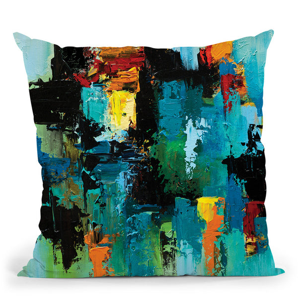 The Map Os Zoorka Throw Pillow By Osnat Tzadok