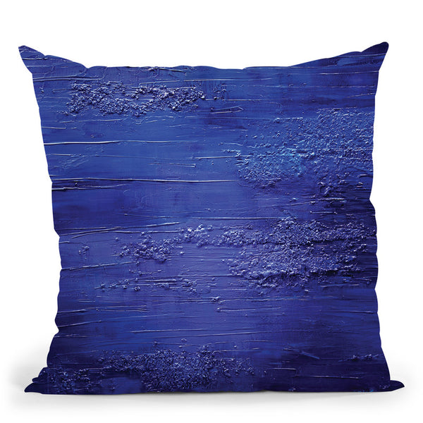 Blue Ocean Throw Pillow By Osnat Tzadok