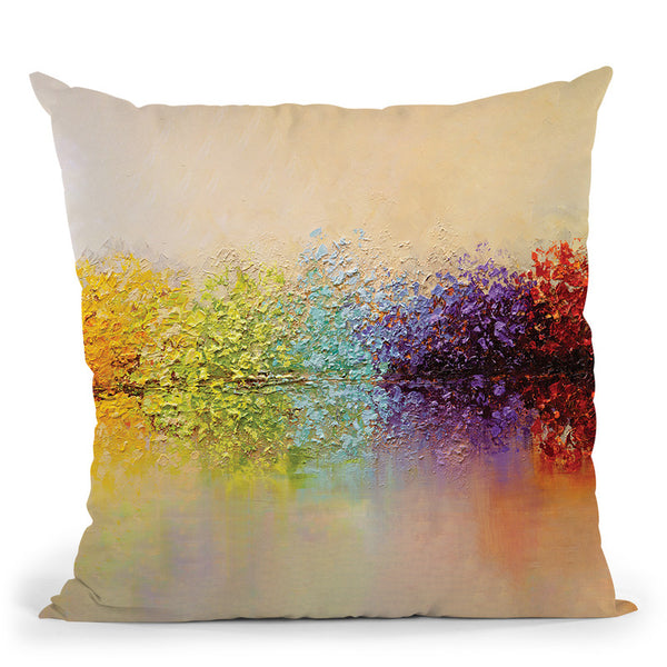 The Secret Garden Throw Pillow By Osnat Tzadok