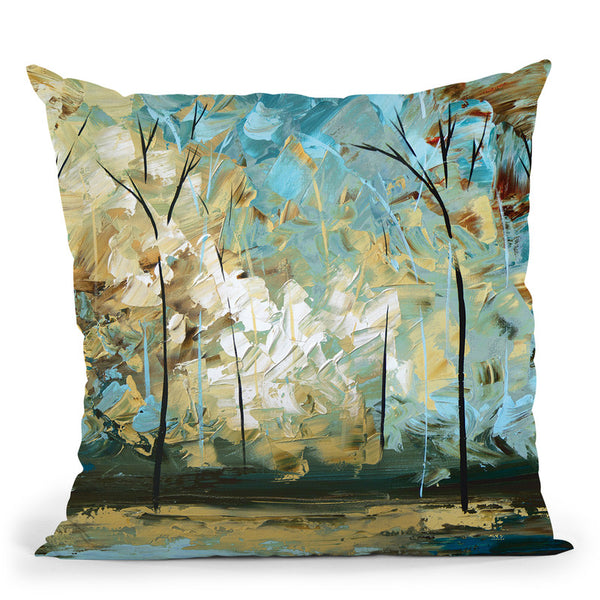 Walk With Me Throw Pillow By Osnat Tzadok