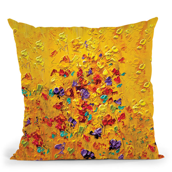 Yellow Throw Pillow By Osnat Tzadok