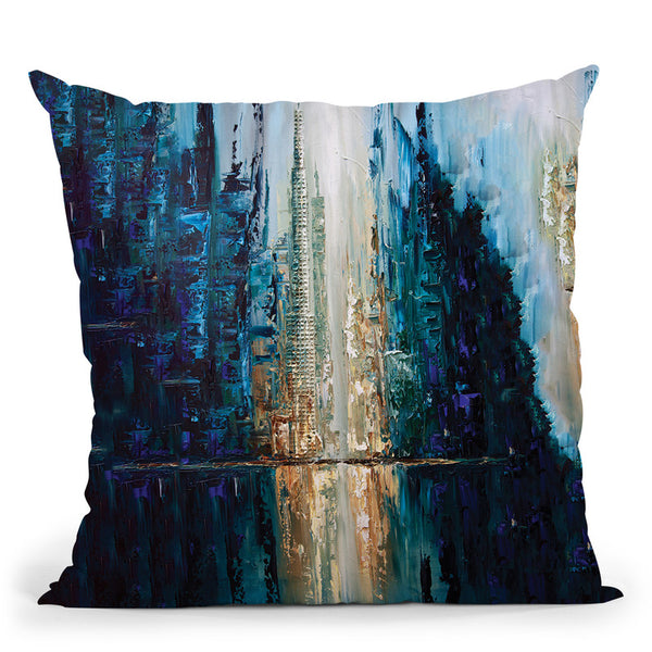 City Of Angels Throw Pillow By Osnat Tzadok