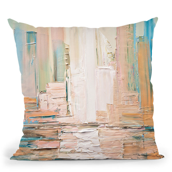 City Skyline Throw Pillow By Osnat Tzadok