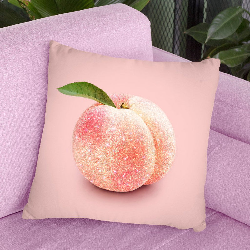 Glitter Peach Throw Pillow By Paul Fuentes