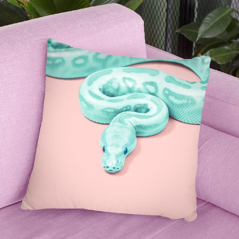 Green Snake Throw Pillow By Paul Fuentes