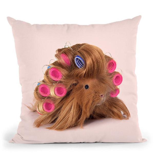 Hairy Guinea Pig Throw Pillow By Paul Fuentes