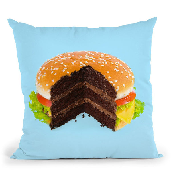 Hamburger Cake Throw Pillow By Paul Fuentes