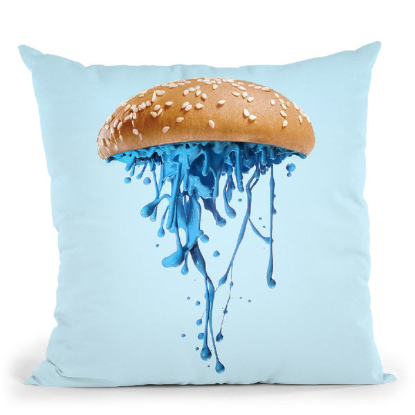 Jelly Burger Throw Pillow By Paul Fuentes