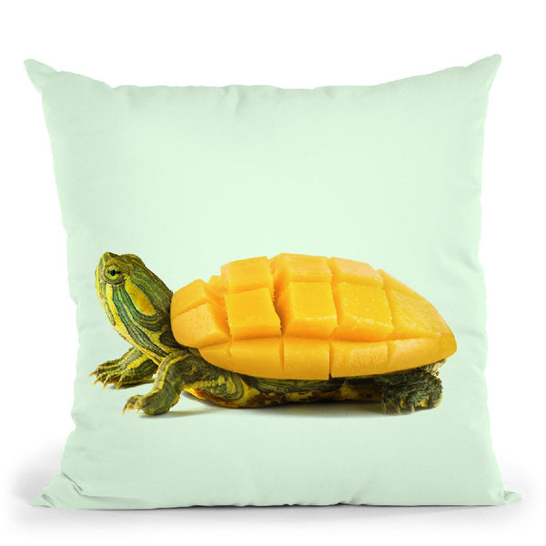 Mango Tortuga Throw Pillow By Paul Fuentes