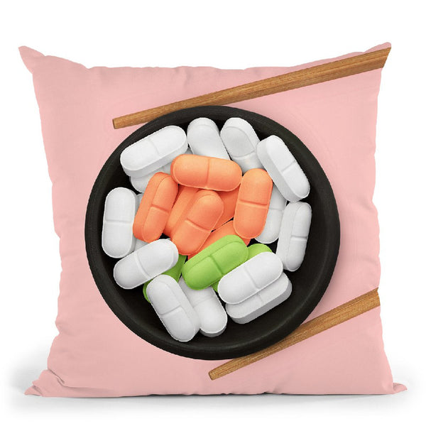 Medicine Roll Throw Pillow By Paul Fuentes