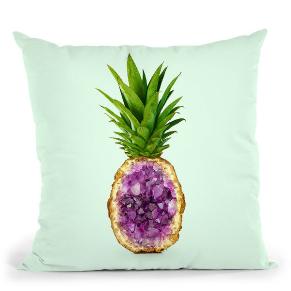 Pineapple Quartz Throw Pillow By Paul Fuentes