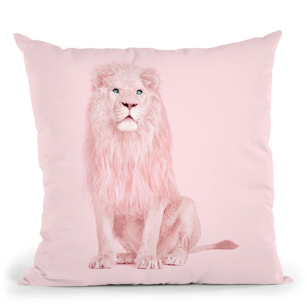 Pink Lion Throw Pillow By Paul Fuentes
