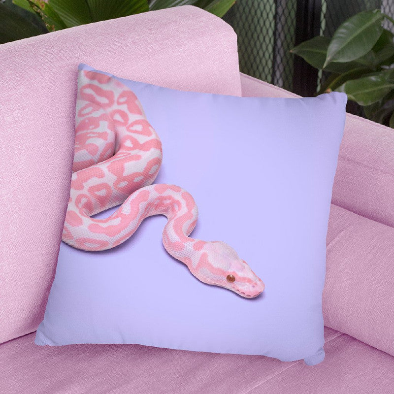 Pink Snake Throw Pillow By Paul Fuentes