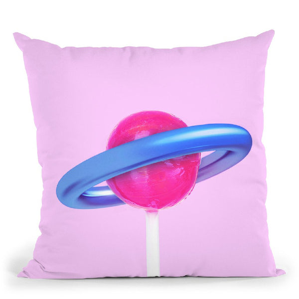 Planet Lolipopo Throw Pillow By Paul Fuentes