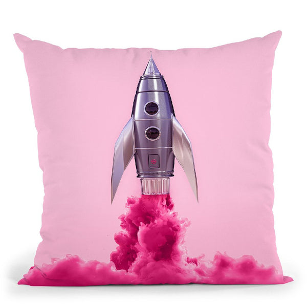 Rocket Color Throw Pillow By Paul Fuentes