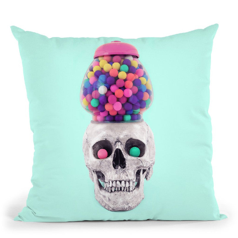 Skull Machine Throw Pillow By Paul Fuentes