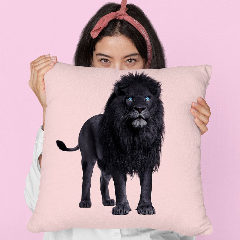 Black Lion Throw Pillow By Paul Fuentes