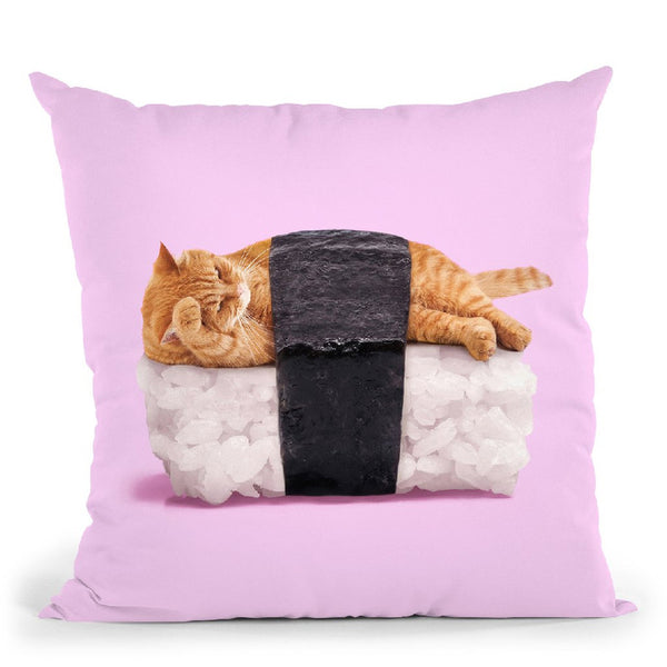 Sushi Cat Throw Pillow By Paul Fuentes