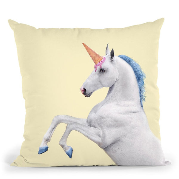 Unicorn Throw Pillow By Paul Fuentes