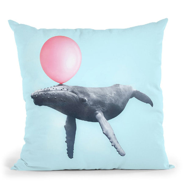 Whale Bubble Gum Throw Pillow By Paul Fuentes