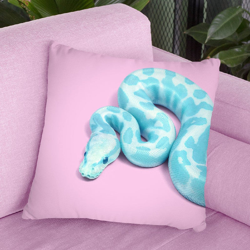 Blue Snake Throw Pillow By Paul Fuentes