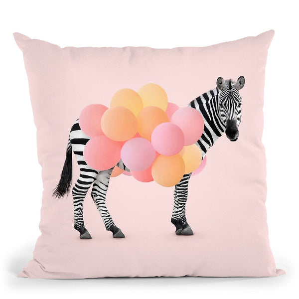 Zebra Balloon Throw Pillow By Paul Fuentes