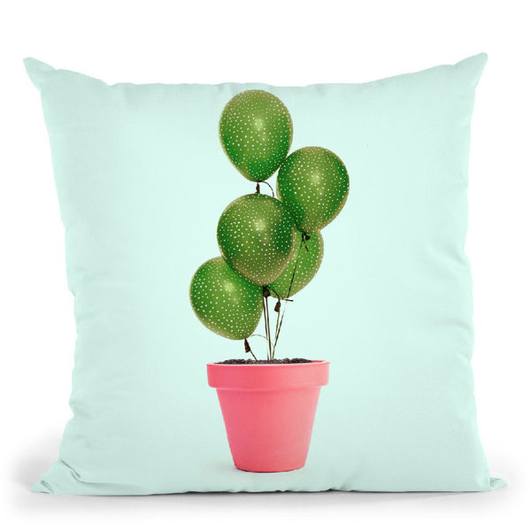 Cactus Balloon Throw Pillow By Paul Fuentes