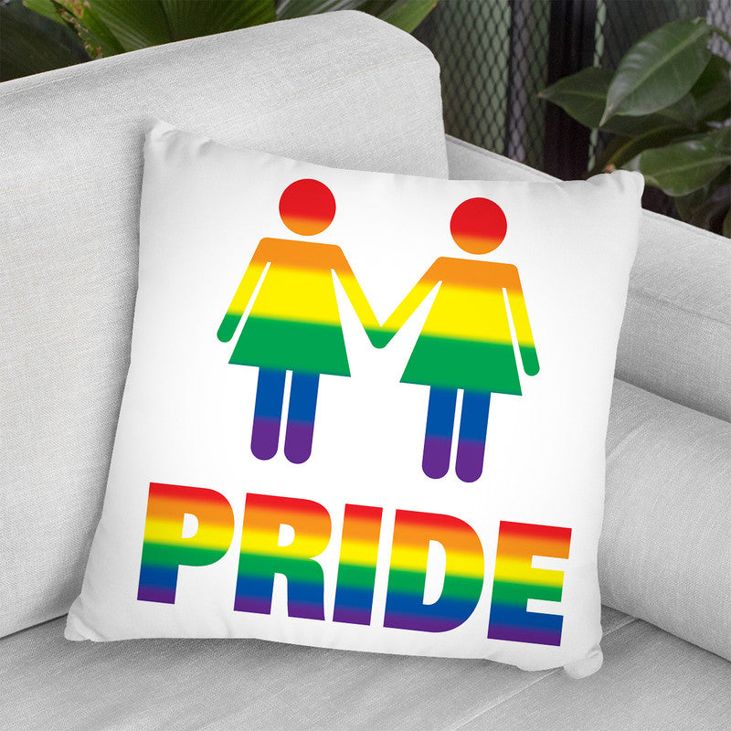 Girl Gay Pride Throw Pillow By Pride Designs - by all about vibe