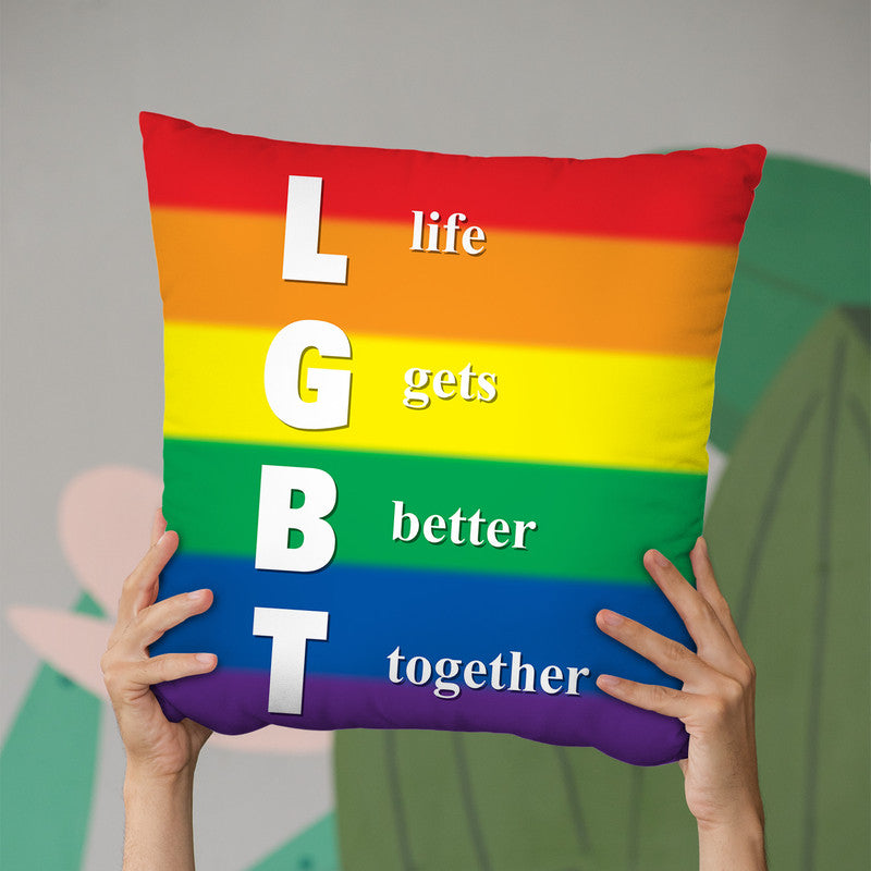 Lgbt Gay Pride Throw Pillow By Pride Designs - by all about vibe