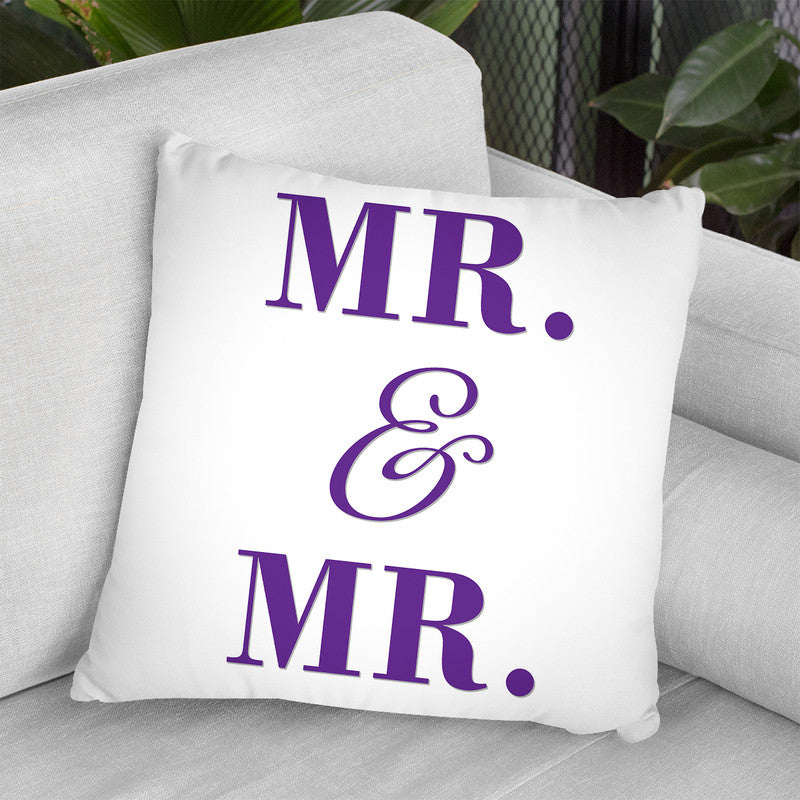 Mr & Mr Gay Pride Throw Pillow By Pride Designs - by all about vibe