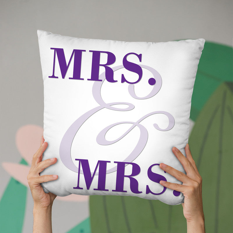 Mrs & Mrs Gay Pride I Throw Pillow By Pride Designs - by all about vibe