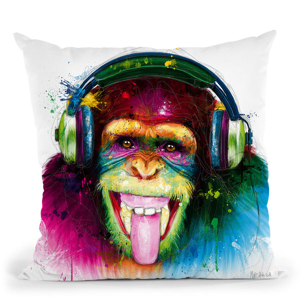 Dj Monkey Throw Pillow By Patrice Murciano