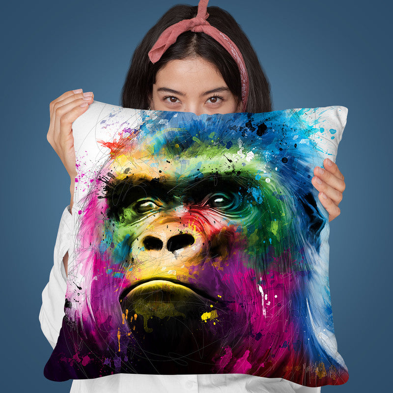 Gorilla Throw Pillow By Patrice Murciano